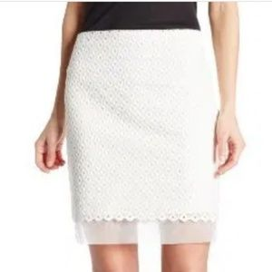 Vince Camuto White Pencil Skirt